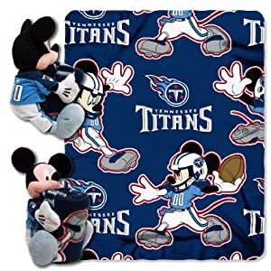 NFL Tennessee Titans Mickey Mouse Pillow with Fleece Throw Blanket Set by Northwest