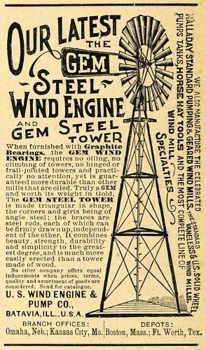 1892-ad-steel-wind-mill-engine-gem-steel-tower-batavia-illinois-farm-machinery-original-print-ad