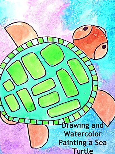 Drawing and Watercolor Painting a Sea Turtle