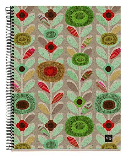 basicos-mr-2939-cuaderno-4-colores-a4-120-hojas-horizontal-ecoflowers-reciclado