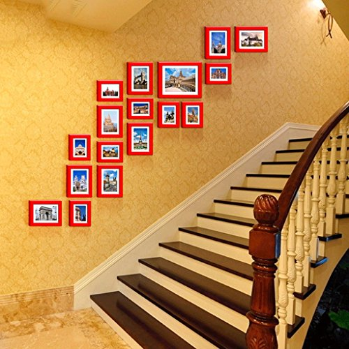 5-Zoll-7-Zoll-10-Zoll-Bilderrahmen Holzrahmen Wand kreative Kombination von modernen minimalistische Einrichtung unregelmäßigen Treppen Photo Wand
