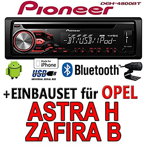 Opel astra h, zafira b noir-pioneer dEH - 4800BT cD/mP3/uSB avec
