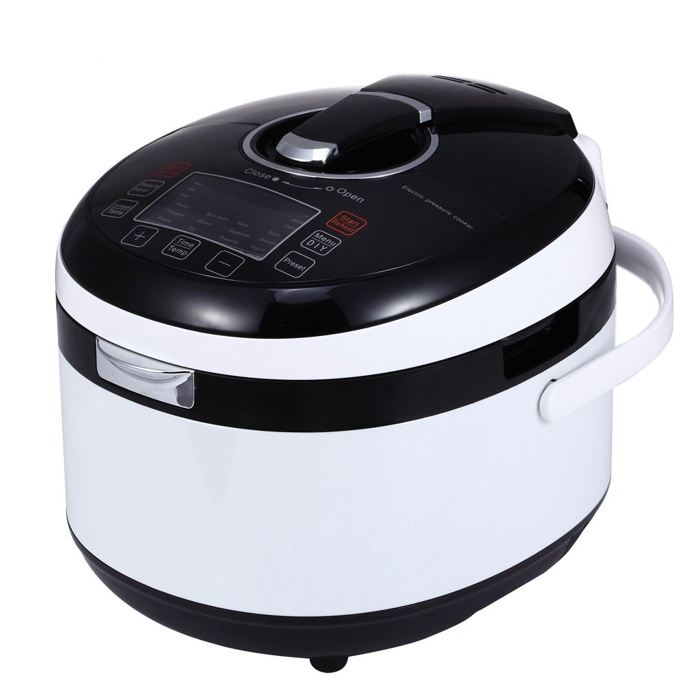 Korean 8 in 1 Multi-function Electric Pressure Cooker with Sealing Ring, 5L/6 Quarts, 1100w, Stainless Steel Cooking Pot and Mirror Polishing Exterior ..