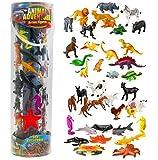 Giant Animal Action Figure Set - Big Bucket of Ocean, Dinosaur, Safari, and Farm Animals - 40 Figures in All!