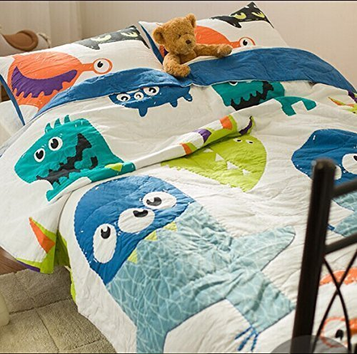 50% Brandream Twin Queen Size Cute Monster Quilt Set Kids