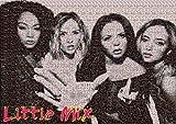 Little Mix A1 Mosaic Poster Get Weird Black Magic Made of Tiny Little Mix photos