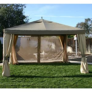 10 x 12 Arrow Gazebo Replacement Canopy and Netting
