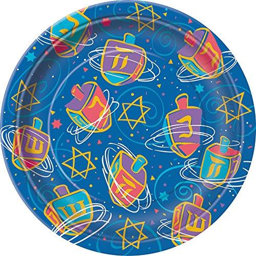Festive Hanukkah Dessert Plates, 8ct - 1