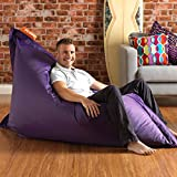 BAZAAR BAG ® - Giant Beanbag PURPLE - Indoor & Outdoor Bean Bag - MASSIVE 180x140cm - GREAT for Garden
