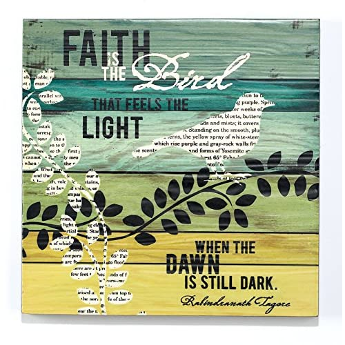 "Dark Dawn Is Still Dark"" Mdf Wall Plaque 12""x12"" - Decorative Plaques"