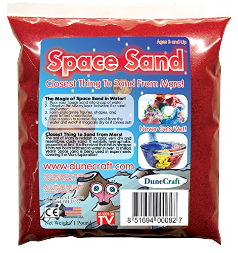 Dunecraft Space Sand Domed Terrarium, Red, 1 lb