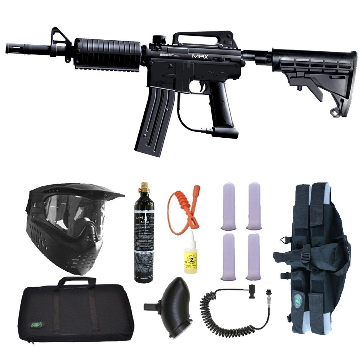 Spyder MRX Magazine Fed Paintball Marker Gun 4+1 9oz Sniper Set