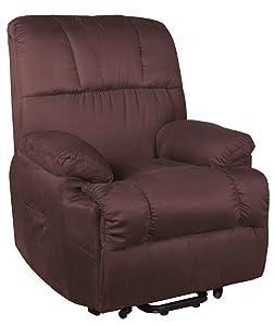 Fernsehsessel Relaxsessel TV Sessel mit Aufstehhilfe Mikrofaser braun  Kritiken und weitere Informationen