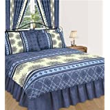 Matching Bedrooms Double Size Bedding Duvet/Quilt Cover Bed Set Blueby Matching Bedrooms Set Ltd