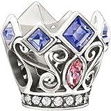 Authentic Chamilia Disney Princess Royal Crown Charm Bead 2025-0988, Comes with Branded Box, FREE Bonus, Ships Same Day