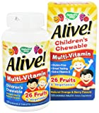 Nature's Way Alive Children's Multi-Vitamin Gummies 90 chew ( Multi-Pack) by CUE GREEN TEA ENERGY
