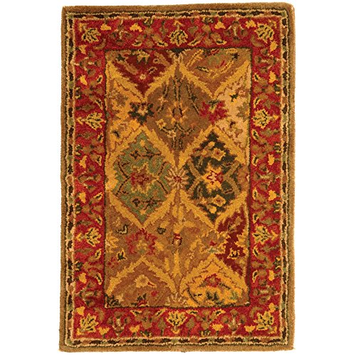 Safavieh Heritage Collection HG111A Handmade Multicolored Wool Area Rug, 2 feet by 3 feet (2' x 3')