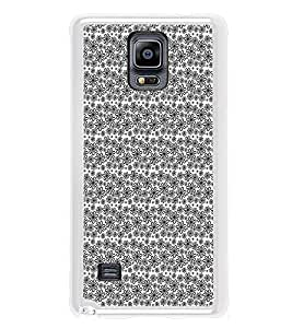 ifasho Animated Pattern black and white flower Back Case Cover for Samsung Galaxy Note 4