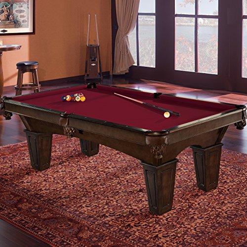 Brunswick 8 Foot Pool Table with Contender Cloth - Glen Oaks, Merlot