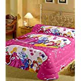 RajasthaniKart Double Bed Cartoon Print Bedsheet With Two Pillow Cover