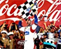 'AUTOGRAPHED 2014 Jimmie Johnson #48 Lowe''s Racing COCA-COLA 600 WIN (Victory Lane Celebration) Checkered Flag Signed 8X10 NASCAR Glossy Photo with COA'