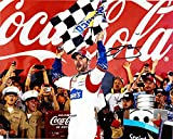 AUTOGRAPHED 2014 Jimmie Johnson #48 Lowes Racing COCA-COLA 600 WIN (Victory Lane Celebration) Checkered Flag Signed 8X10 NASCAR Glossy Photo with COA