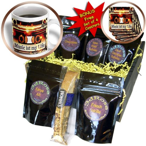 Cgb_167194_1 Spiritualawakenings_Music - Music Deco Art With Cute Saying - Coffee Gift Baskets - Coffee Gift Basket