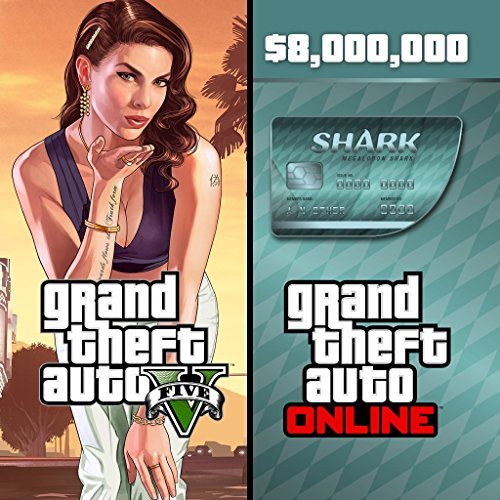 Grand Theft Auto V & Megalodon Shark Card Bundle - PS4 [Digital Code] (Gta V Shark Card Ps4 compare prices)