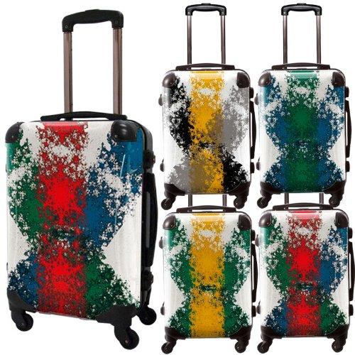 クロスジャックアートスーツケース/ポップニズム/モード/フレーム4輪キャスター/TSAロック/機内持込可能/キャラート/ペンキ/レッド グリーン ブルー イエロー ブラック グルーン/CRA01-032