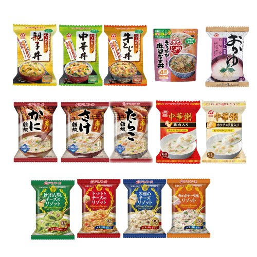 [Amano foods freeze-dried] select BOX rice stuff (grilled rice / porridge / risotto / congee / Bowl) 14 different variety of set [freeze dried green onion 5 g, skipjack flavor plenty of miso one with]