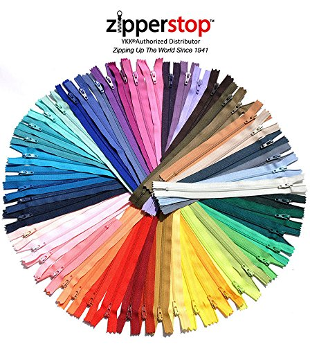 "For Sale! Sale 25 Assorted 9"" & 10"" Zippers - YKK # 3 Skirt and Dress Nylon Coil - Clo..."