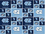 UNIVERSITY OF NORTH CAROLINA TARHEELS COTTON FABRIC-100% COTTON UNIVERSITY OF NORTH CAROLINA TARHEELS FABRIC SOLD BY THE YARD-UNIVERSITY OF NORTH CAROLINA TARHEELS #20 SYKEL
