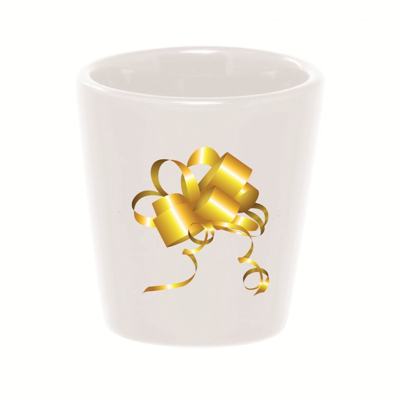 Mashed Mugs Shiny Gold Bow Ceramic Shot Glass bulros t 3d mini mugs