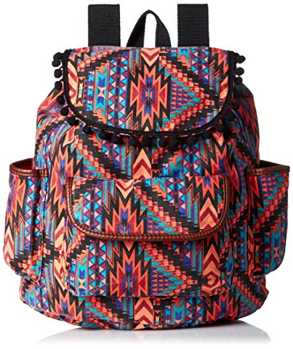 twig-arrow-printed-canvas-with-pom-poms-fashion-backpack-coral-blue-one-size