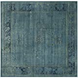 Safavieh Vintage Collection VTG117-2220 Turquoise and Multicolored Viscose Square Area Rug, 6-Feet
