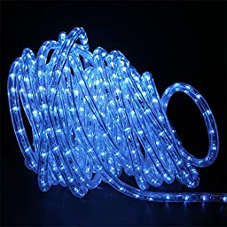 50ft LED Rope Lighting Blue 2-wire by Direct-Lighting