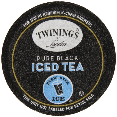Twinings Of London K-Cup Portion Pack For Keurig K-Cup Brewers Iced Tea, Pure Black, 12 Count (Pack Of 6)