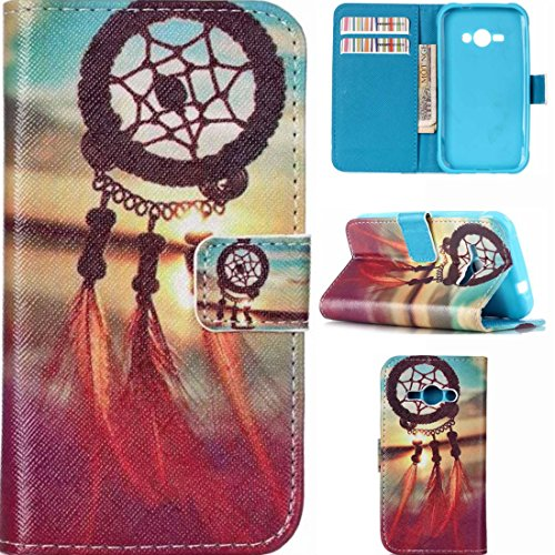 J1 Ace Case, Samsung Galaxy J1 Ace Case,Enjoy Sunlight [Dream Catcher] Kickstand Feature] Luxury Wallet PU Leather Folio Wallet Flip Case Cover Built-in Card Slots for Samsung Galaxy J1 Ace Case (Samsung Ace Phone Wallet Cases compare prices)