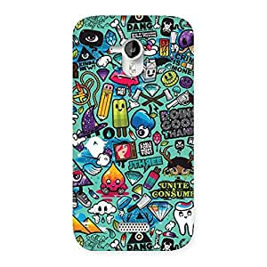 Delighted Premier candy Multicolor Back Case Cover for Micromax Canvas HD A116