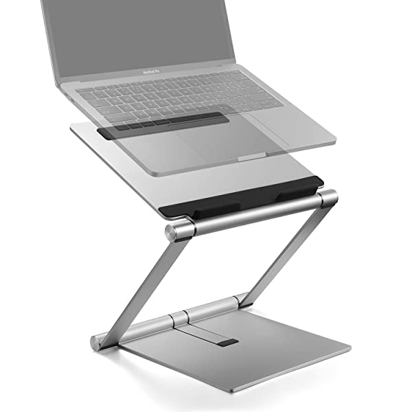 Laptop Stand, Multi-Angle Aluminum Ergonomic Foldable Laptop Riser, Adjustable Notebook Stand Holder for MacBook Pro/Air, HP, Dell, Lenovo, Samsung, Acer, Huawei MateBook and Other Laptops up to 17 (Color: Z1)