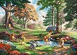 西洋絵画 ディズニー クマのプーさん 2 42x30cm トーマス キンケード Winnie the Pooh [並行輸入品]