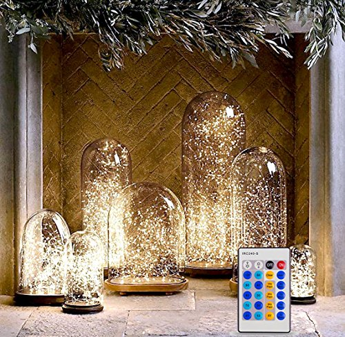 Fairy Lights With Remote Control / Dimmer, Warm White LEDs On Copper Wire. Indoor Outdoor String Lights (33 Feet) (Remote Control Tabletop Fans compare prices)