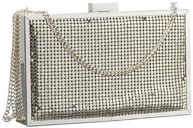MENBUR Fiesta 12738 Damen Abendtaschen, Silber  (Silber), 16x10x3 cm (B x H x T)