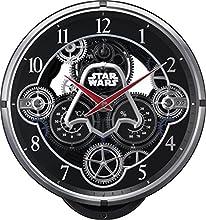 STAR WARS(リズム時計) 銀河帝国軍ダースベーダー KARAKURI CLOCK/スター・ウォーズ 黒色 4MN533MC02