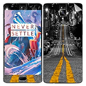 Theskinmantra Street way mobile SKIN/STICKER/DECAL for OnePlus 3/Oneplus Three/1+3