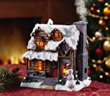 Smoking Country Christmas Cabin Incense Burner