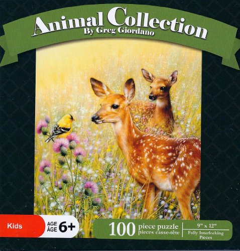 "Greg Giordano Animal Collection ""Want to Play"" 100 Piece Jigsaw Puzzle"