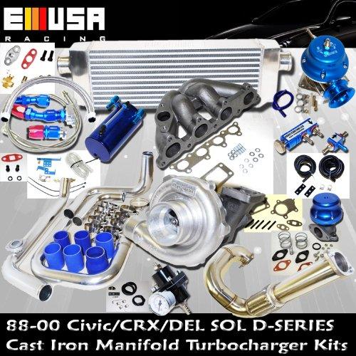 Turbo Kit D Series Honda Civic Del Sol DOHC D15 D16 88-00 (D Series Turbo Manifold compare prices)