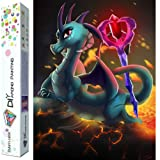 Dylan's Cabin DIY 5D Diamond Painting Kits for Adults,Full Drill Embroidery Paint with Diamond for Home Wall Decor(dragon/16x12inch) (Color: dragon 7)