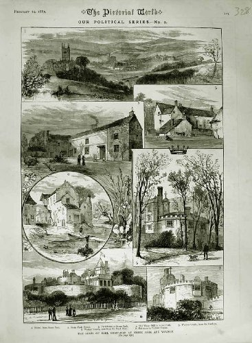 1883 EARL GRANVILLE STONE PARK WALMER CASTLE DEAL ROAD